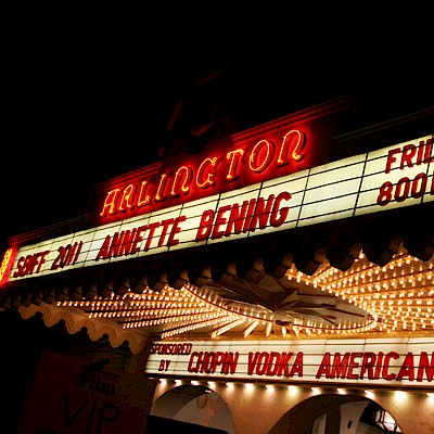 The marquee at the Arlington Theater